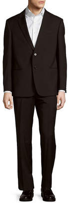 Giorgio Armani Collezioni Classic Fit Wool Suit With Flat Front Pant