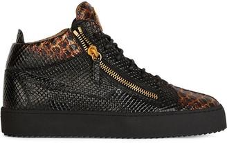Giuseppe Zanotti Kriss snakeskin-effect leather sneakers