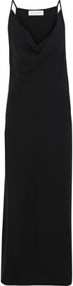 Victoria Beckham Draped Stretch-cady Maxi Dress