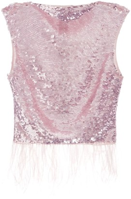 Rachel Gilbert Max sleeveless sequin-embellished top