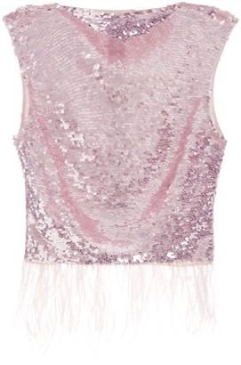 Rachel Gilbert Max sleeveless sequin-embellished top