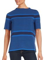 Lafayette 148 New York Short Sleeve Striped Top