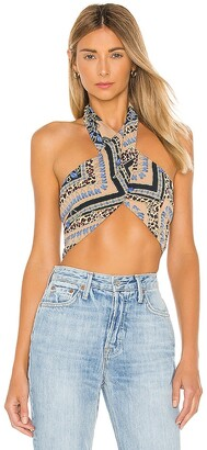 superdown Alondra Halter Wrap Top