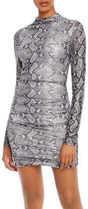 Tiger Mist Addison Snake Print Mini Dress
