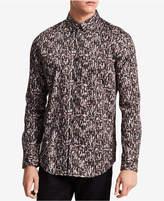 Calvin Klein Men's Slim-Fit Optic Square-Print Shirt
