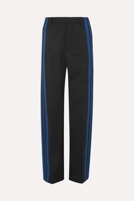 Balenciaga Striped Stretch-crepe Track Pants - Black