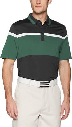 Cutter & Buck Men's Moisture Wicking Drytec Wide Scale Polo Shirt