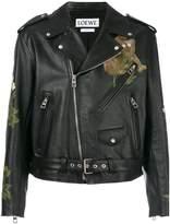 Loewe printed biker jacket