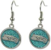 Aminco Seattle Seahawks Glitter Dangle Earrings
