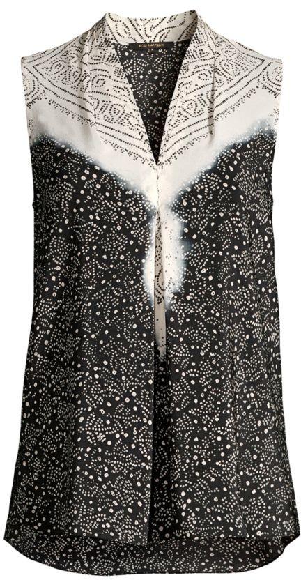 Kobi Halperin Sophie Ditsy-Print Silk Blouse