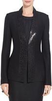 St. John Shimmer Twill Knit Jacket