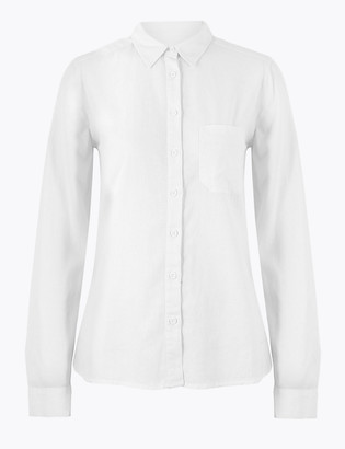 Marks and Spencer Linen Long Sleeve Shirt