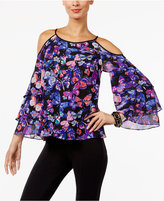 INC International Concepts Tiered Cold-Shoulder Top, Only at Macy's