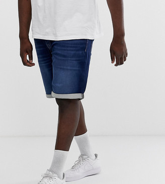 Jack and Jones Core denim shorts in blue wash