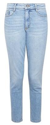 Dorothy Perkins Womens Blue Lightwash Mom Denim Jeans With Organic Cotton, Blue