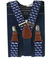 Club Room Mens Nautical Faux Leather Y Shape Suspenders Navy O/S