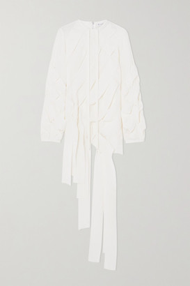 J.W.Anderson Woven Jersey Blouse - White