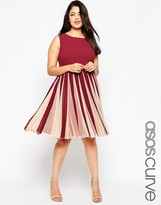 Asos Fit & Flare Dress with Insert