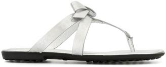 Tod's Bow Embellished Flip-Flops
