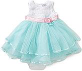 Rare Editions Baby Girls 12-24 Months Soutache Bodice Mesh Skirt Tiered Dress