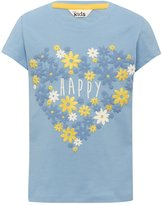 M&Co Happy slogan floral print t-shirt