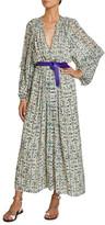 Etoile Isabel Marant Estine Floral Print Chiffon Maxi Dress