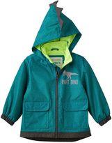 Carter's Toddler Boy Lightweight Green Dino Rain Jacket