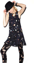 MADE Fashion Week for Impulse Dress, Sleeveless High-Neck Galaxy-Print