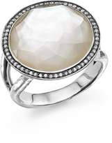 Ippolita Sterling Silver Stella Lollipop Ring in Mother-of-Pearl Doublet with Diamonds