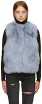 Meteo by Yves Salomon Blue Fur Vest