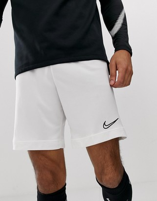 Nike Football academy shorts in white