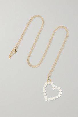 Jemma Wynne 18-karat Gold, Diamond And Pearl Necklace