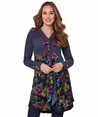 Joe Browns Women's Ladies Day Tunic Long Sleeve Top Blue (Navy Multi (Size:12)