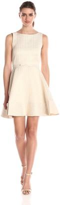 Erin Fetherston Erin Women's Elsie Herringbone Jacquard Belted Dress