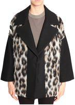 MSGM Oversize Animalier Coat