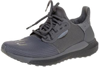 Pharrell Williams x Adidas Grey Cotton Knit Solar Hu Sneakers Size 36.5