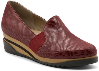 Bettye Muller Concepts Tropic Leather Platform Wedge Slip-On