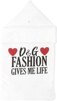 Dolce & Gabbana Kids Fashion Gives Me Life blanket