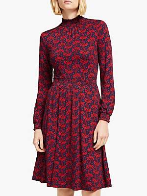 Boden Alice Floral Jersey Dress, French Navy