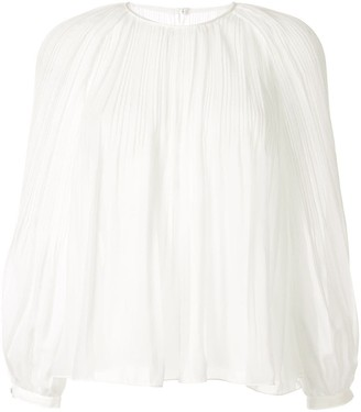 TOMORROWLAND Pleated Chiffon Blouse