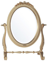 Hand Carved Wood Mirror With Stand