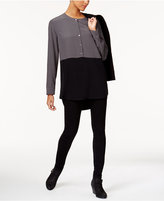 Eileen Fisher High-Low Colorblocked Tunic