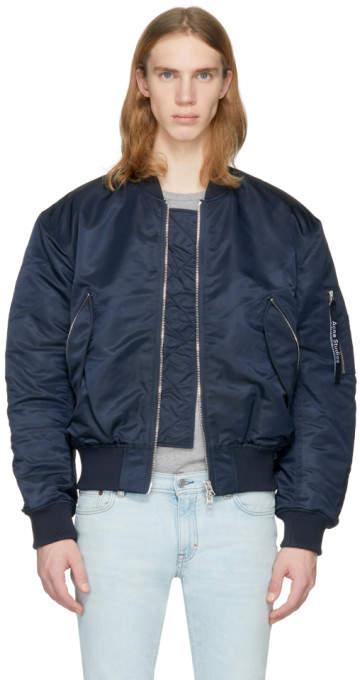 Acne Studios Navy Makio Bomber Jacket