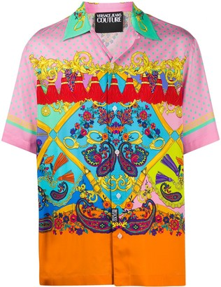 Versace Paisley Fantasy-print short-sleeved shirt