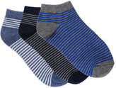David Jones Boys 3pk Low Cut Fashion Socks - Stripes