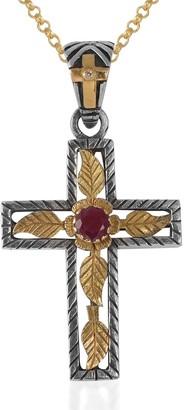 Emma Chapman Jewels Lucia Ruby Gold Cross
