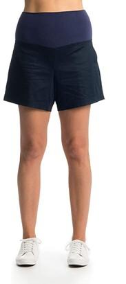 Everly Grey Kathleen Maternity Shorts (Black) Women's Shorts