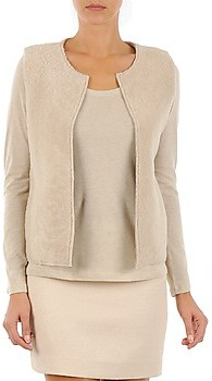 Majestic 241 women's Cardigans in Beige