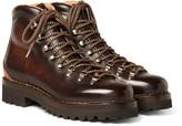 Ralph Lauren Purple Label - Findel Burnished-leather Boots