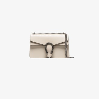 Gucci white Dionysus small leather shoulder bag
